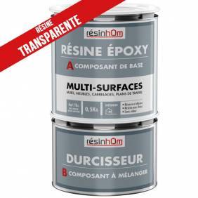 Résine epoxy transparente Multi surfaces  375gr