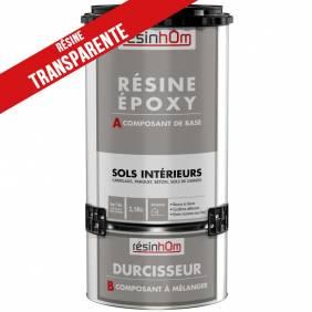 Résine époxy spécial sols intérieur transparente ( 1,875kg ou 3,750kg)