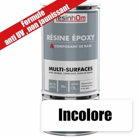 Résine epoxy transparente Multi surfaces 1Kg
