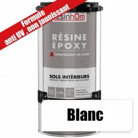 Résine époxy spécial sols intérieur -Blanc -Formule anti-UV-Non jaunissant