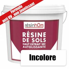 Résine de sols autolissante Haut extrait sec 100% résine, Incolore / Anti UV