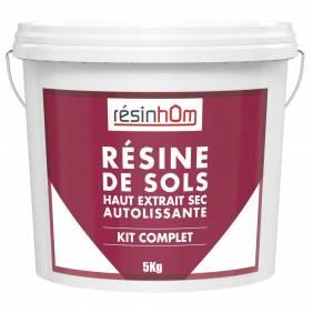 Résine de sols autolissante Haut extrait sec 100% résine incolore