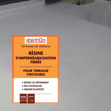 Résine d'imperméabilisation pour balcon et terrasse circulable 5 Kg