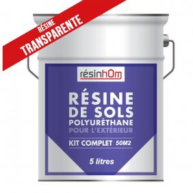 Résine polyuréthane sol extérieur transparente (2,9 litres)