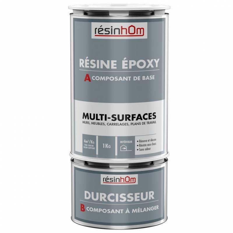 R sine epoxy mur 1kg meuble carrelage plan de travail for Resine pour meuble