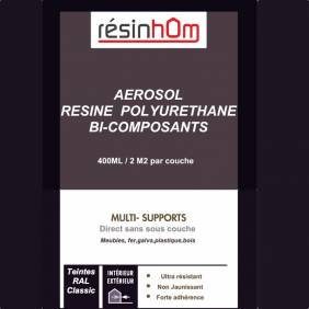 Aérosol résine polyuréthane 400ML INCOLORE