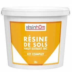 Résine de sols Haut extrait sec 100% résine 5kg pour 20M2