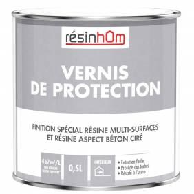 Vernis de protection Aspect Brillant pour aspect béton ciré et multi surfaces 0.5L